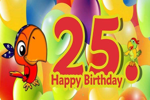 Silver Jubilee Birthday Wishes