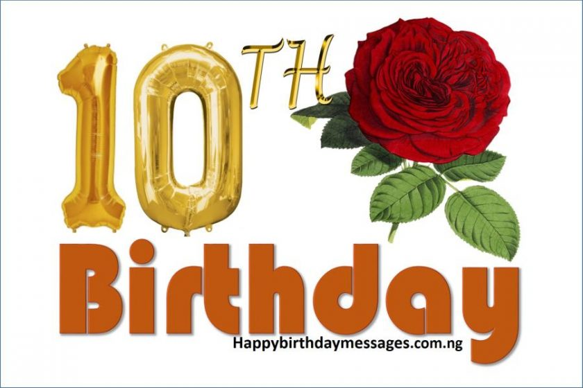 Happy 10th Birthday Wishes Greetings and Quotes