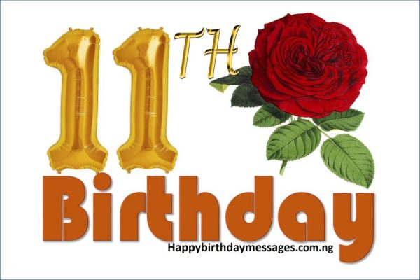 Happy 11th Birthday Wishes Greetings and Quotes