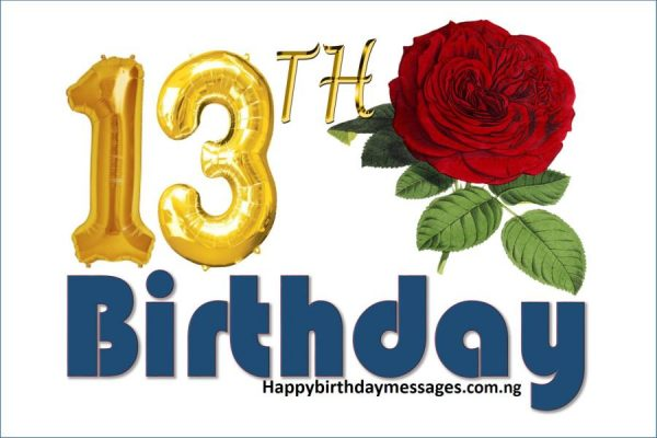 Happy 13th Birthday Wishes Greetings and Quotes