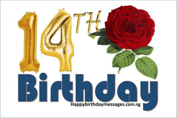 Happy 14th Birthday Wishes Greetings and Quotes