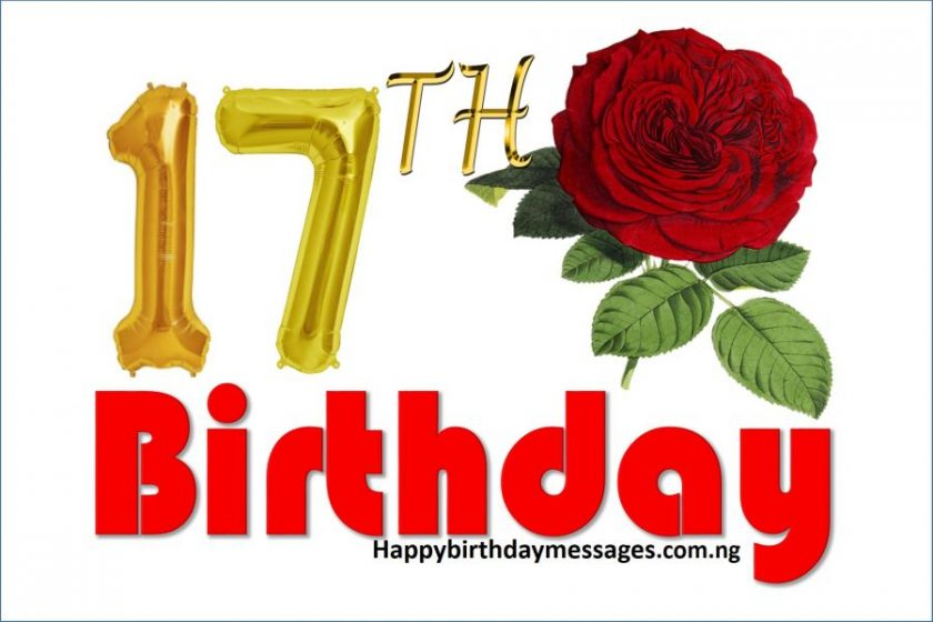 Happy 17th Birthday Wishes Greetings and Quotes
