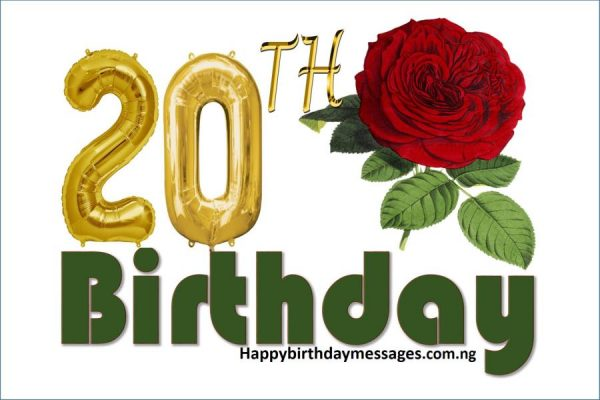 Happy 20th Birthday Wishes Greetings and Quotes
