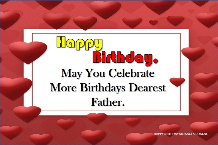 Happy Birthday Messages for My Father